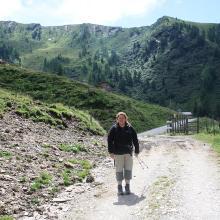 auf dem Weg vom Kreuzeck zur Glettnalm