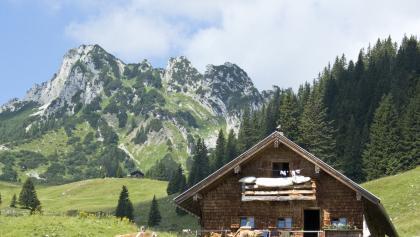 Die Soinalm am Bayrischzeller Höhenweg.