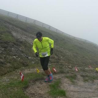 Mountainrun 2016: Zieleinlauf bei Schneefall