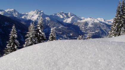 Panoramablick vom Kristberg im Silbertal im Montafon