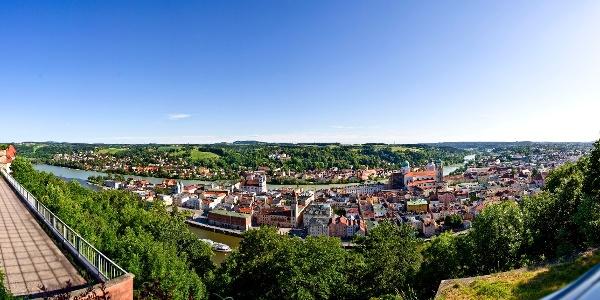 Panoramablick von der Veste Oberhaus