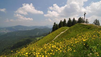 Am Gipfel der Baumgartenschneid.