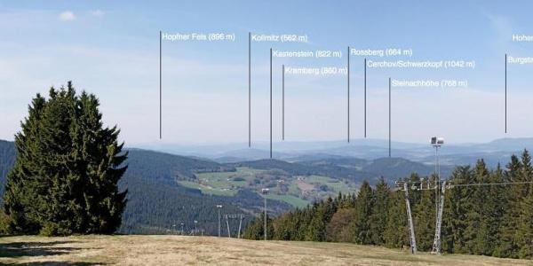 Panorama vom Predigtstuhl nach Norden