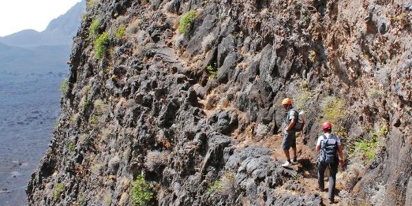 Am Klettersteig in der Bordeira