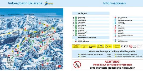 Panorama of ski slopes