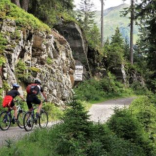 Biken auf dem Kristberg