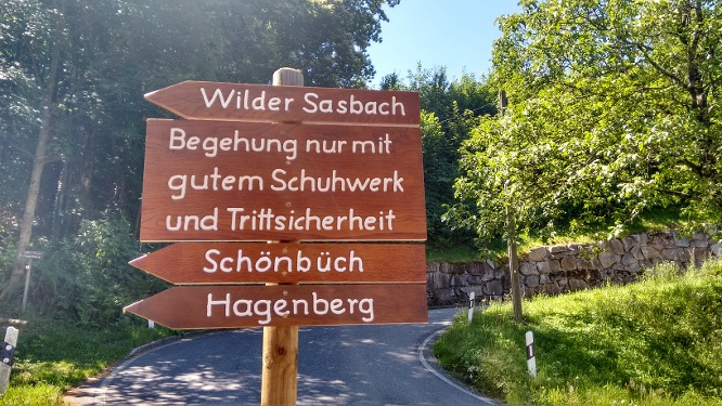 Wilder Sasbach Start-Wegweiser