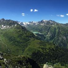 Panorama von der Breitspitze