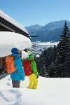 Blick auf das winterliche Pfronten von der Hündeleskopfhütte - @ Autor: Julian Knacker - © Quelle: Foto: G. Eisenschink