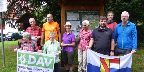 Start der Gruppe am Kupferhammer in Pforzheim.