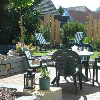 Garten der Ferienwohnung Gänsestall