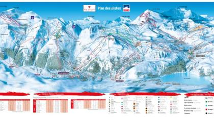 Das Pistenpanorama von Val d`Isère-Tignes