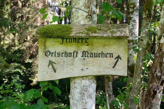 Standort der ehemaligen Ortschaft Mauchen