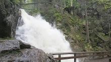 Großer Arber über Riesloch-Wasserfälle