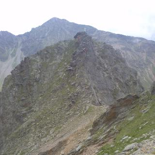 Sauspitze 2604m. Kleine Klettertour.