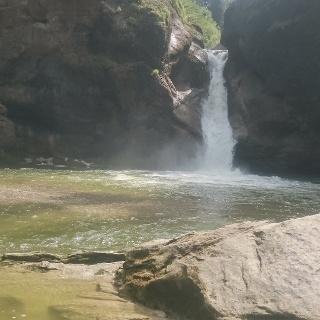 Buchenegger Wasserfälle, unterer Wasserfall