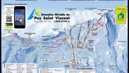 Das Pistenpanorama von Puy Saint Vincent