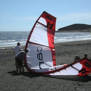 Surfer am Strand von El Medano
