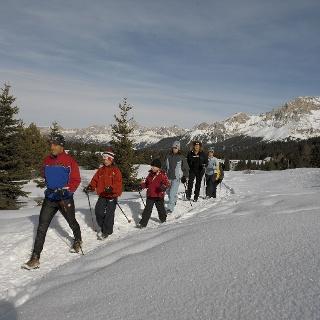 Winter walk in Passo Lavazè