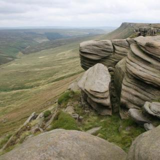 Rocks of The Edge above Ashop Moor