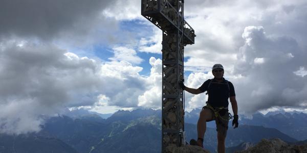 Gipfelkreuz der Rotwand Rosengarten