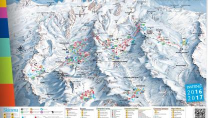 Das Pistenpanorama von Monterosa Ski