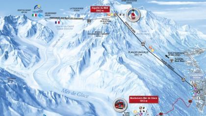 Die Abfahrt durch das Vallée Blanche
