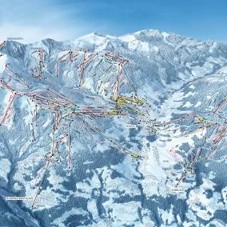 Das Pistenpanorama von Evasion Mont Blanc