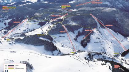 Der Pistenplan von Münstertal-Wieden