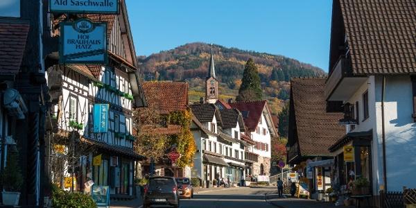 Ortskern Sasbachwalden, die Hauptstraße
