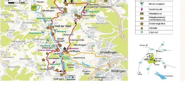 Streckenverlauf Nah.Tour.Radweg