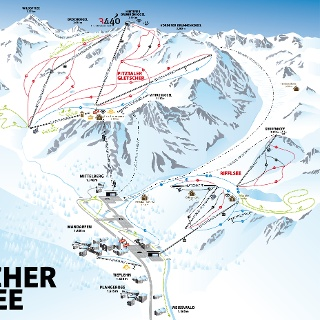 Pistenplan Pitztaler Gletscher & Rifflsee