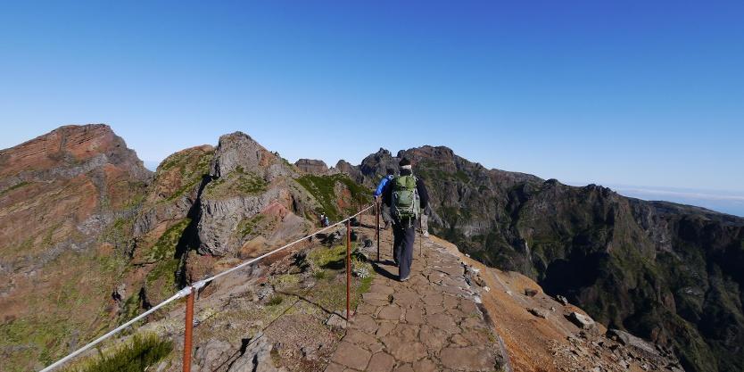 Auf dem Panoramawanderweg zum Pico Ruivo