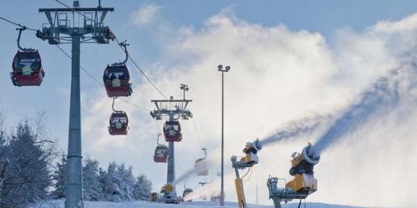 Beschneiung im Skigebiet Willingen