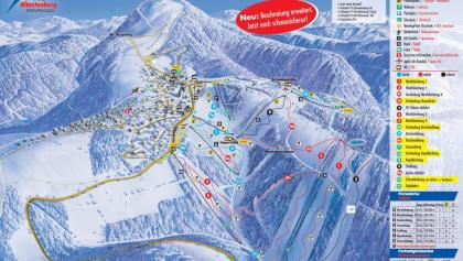 Pistenplan Skikarussell Altastenberg
