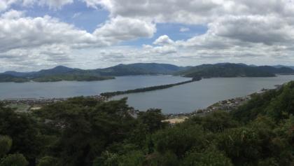 Aussicht vom Aussichtspunkt im Kasamatsu-Park (傘松公園)