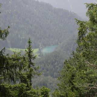 Blick auf den Glaswaldsee