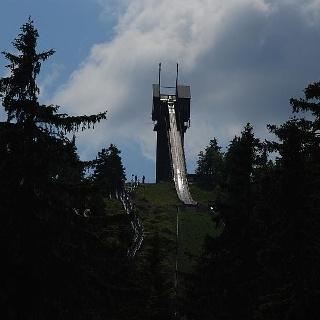Blick zur Wurmberg-Schanze