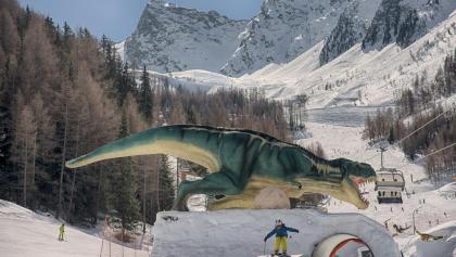Pistenvergnügen für Kinder auf der Dino- Fun Line