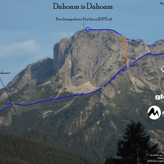 Dahoam is Dahoam - Topo Route in Foto