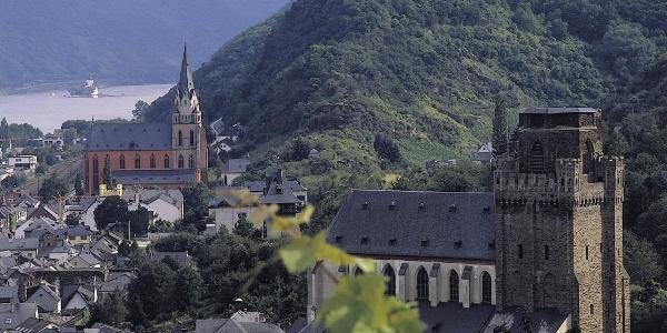 Oberwesel mit Blick auf die Schönburg