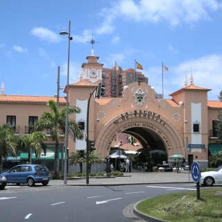 Der Eingang des Afrikamarktes