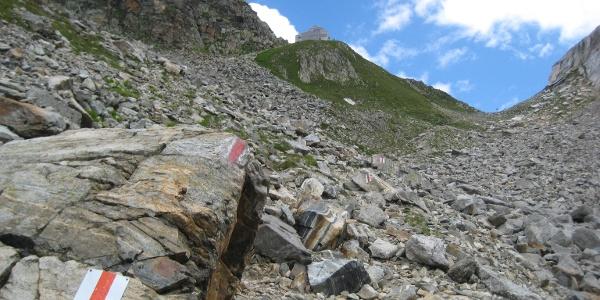 Das letzte steinige Stück bis zur Hütte