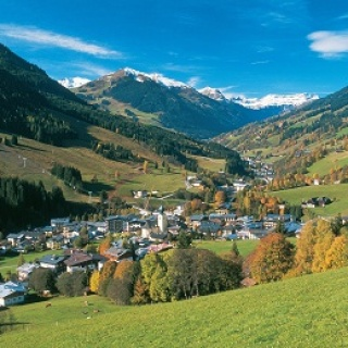 Blick auf Saalbach