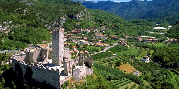 Die Burg von Drena, Startpunkt der Route