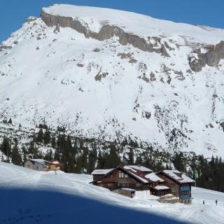 Schwarzwasserhütte im Winter