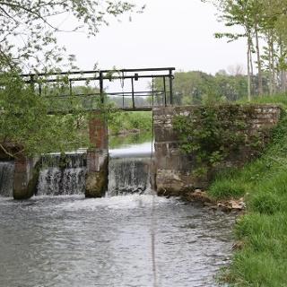 Schleuse am Boker Kanal
