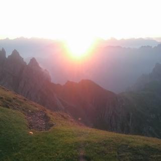 Sonnenaufgang auf der Nördlinger Hütte
