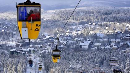 Das weitläufige Skigebiet Hahnenklee am Bocksberg