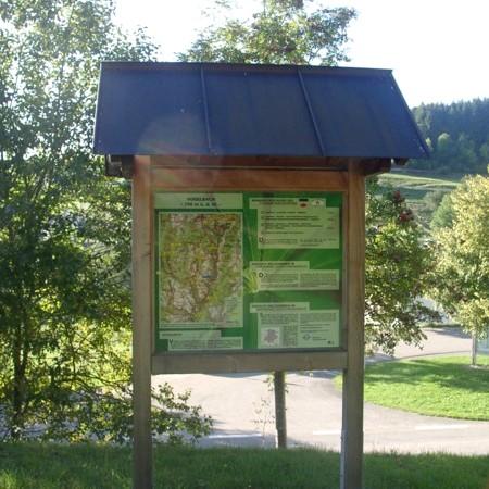 Wanderinfo_Tafel Vogelbach